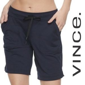 Vince Cotton Bermuda Sweatshorts Navy Small
